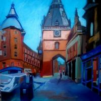 The Scotland street, oil on canvas, 116/89