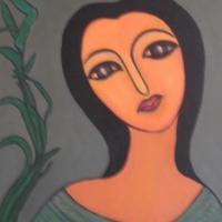 "solitude(acrylic on canvas,24""x18"",$600):-