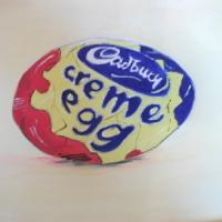 easter , means cadburys , ive painted this on canvas in acriilcs