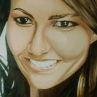 It's an oil portrait of the nickelodeon actress star Victoria Justice