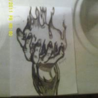 A piece of art that was Drawn in a matter of like 2 hours. A wizards hand with flames is all.