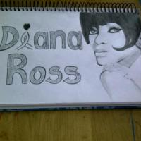 This is a drawing of Diana Ross in her younger years.