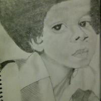 This was one of my first portrait drawings ever. Michael Jackson in his younger years.