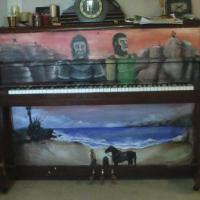 Ipainted my piano after my fav movies