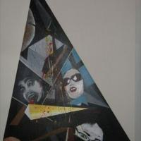 2nd in series of triangular paintings