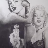 This is my Rendition of an Icon Marilyn Monroe in Pencil Original Drawing plus two 8.5 X 11 Copies