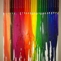 These are crayons melted onto a canvas in support of Gay Pride :-)