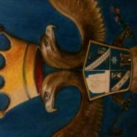 this is an old Italian crest i painted for a client