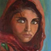 Sharbat Gula subject of Steve Curry's photograph which was distributed world wide on National Geographic