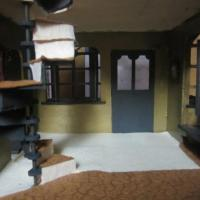 A room in a prefabbed doll house I put together.