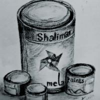 its my charcoal drawing of a still life situation