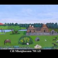 This is a representation of the historic area of Kilmainham 1,300 years ago.