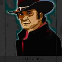 American iconic country musician, the man in black
