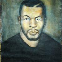 I painted this portrait for Mike Tyson, its a side of him that the public are not aware of.The inner man