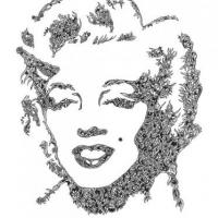 This is a tribute to Marilyn Monroe i doodled comprising of leaves, branches and flowers.