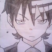 one of my favorite characters from the anime. Anyway my friend drew him than i colored him. :D