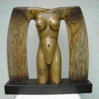 wooden sculpture, one of kind,painted