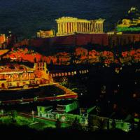 The Greek City Master Piece by night