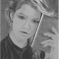 pencil work of a model