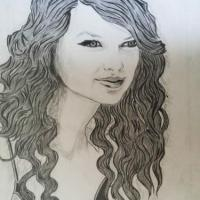 pencil work of taylor swift
