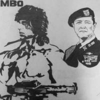 rambo pop art pencil sketch