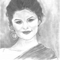selena gomez pencil art