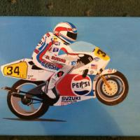 Kevin Scwantz on his Suzuki RG500