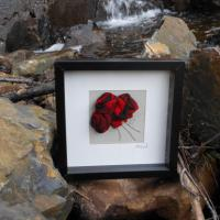 Beautiful handmade 3D tartan flowers incorporated into a wonderfully unique