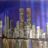 Print of NYC twin towers