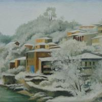 This painting describes one of the districts of Kutaisi, named