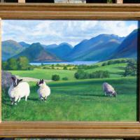 A favourite view of the Crummock valley. This time, some lambs greet the viewer at the Foulsyke gate.