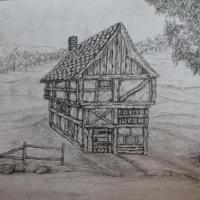 Study of a 13th century house.