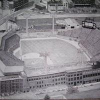 This was an aerial view of Fenway Park that I loved...  I had to add the Monster seats since the photo didn't have them...