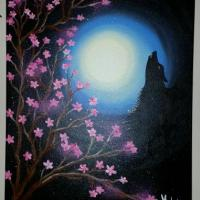Wolf & moon.