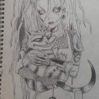 This is a sketch I have done of Alice in wonderland