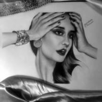 Its a graphite pencil sketch :))