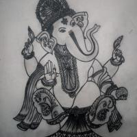 Ganesha is the formless Divinity - encapsulated in a magnificent form, for the benefit of the devotee.