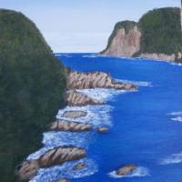 Knysna Heads, Western Cape, South Africa, painted fron a photograph.