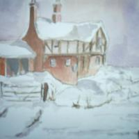 this is one of my easier paintings , i find it so wintery