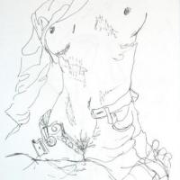 Pen and Ink.