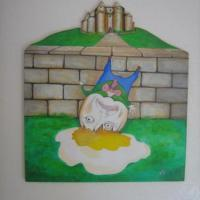 Acrylic on wood (childs room or Daycare Center)
