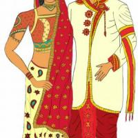 This is an Indian couple in Indian traditional dress