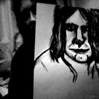 its a quick sketch of one of my favourite singers Kurt cobain.