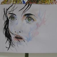 Tribute to Silvia Pelissero….Great expression in her work …. I felt the emotion in the picture when painting it