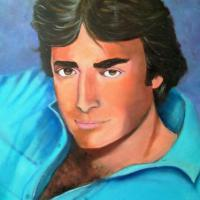 this is oil painting on Stretched Canvas. Portrait of Thaao who is a actor and plays Andre Demera on a Soap Opera called Days of our lives