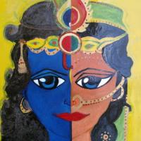 Radha Krishna is one. Radha is the energy/ power of krishna. As Radha is a word, divided into two,