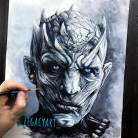 Some personal fanart of Game of Thrones I just love the Night King so I painted him. It took me about 16 hours