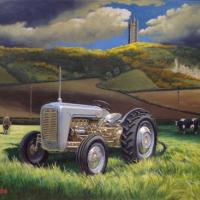 Ferguson 35 'Gold Belly'. This was a recent commission for someone's Christmas present, and I am glad to report they are very pleased with it! The tractor is depicted with Scrabo Tower near Newtownards as a backdrop, which is about 25 miles from the birth