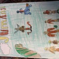 Jumanji drawing by an artistic 7 Year old