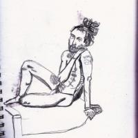 An observed life drawing.